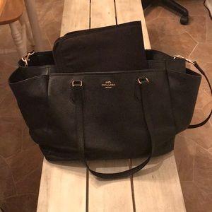 Black coach diaper bag